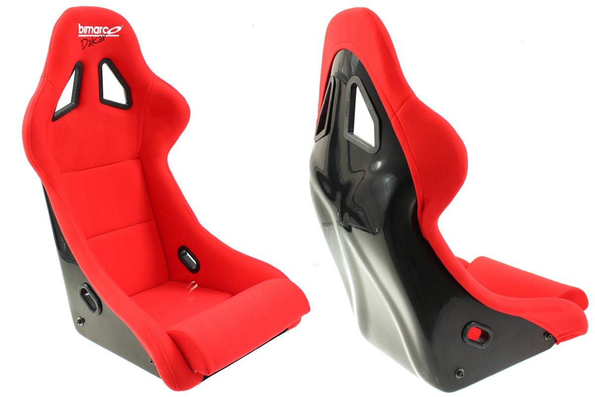 Fotel Sportowy Bimarco Dakar Welur Red FIA - GRUBYGARAGE - Sklep Tuningowy